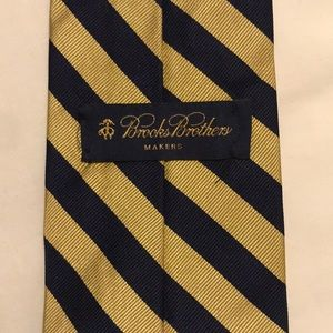 Gold and navy blue Brooks Brothers tie